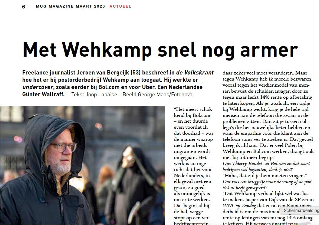 Interview met Jeroen van Bergeijk in MUG Magazine (maart 2020)